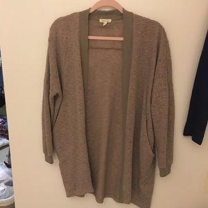 Silence + Noise tan cardigan sweater